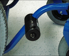 Frame Clamp Attachment of the wheelchair tubing