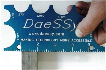 A DAESSY Gauge - ask us how you can obtain one for your kit